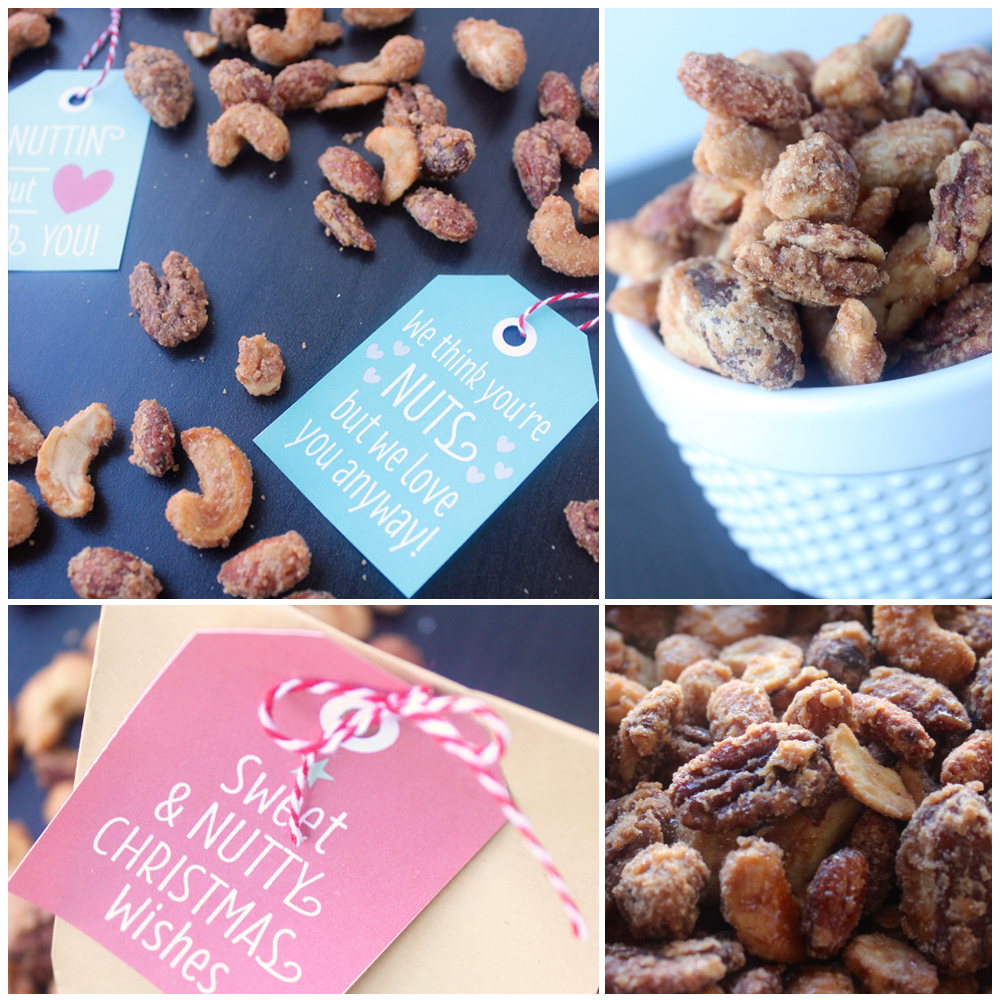 Make DELICIOUS Cinnamon Candied Nuts - FREE Printable Tags