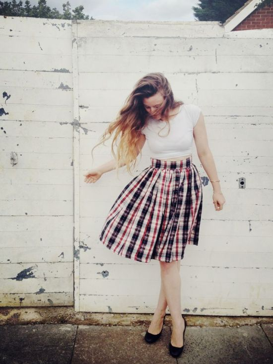 DIY Gathered Skirt Tutorial