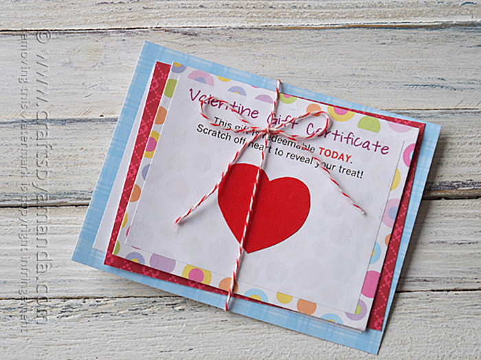 Valentine Scratch Off Card - instructions and free printable