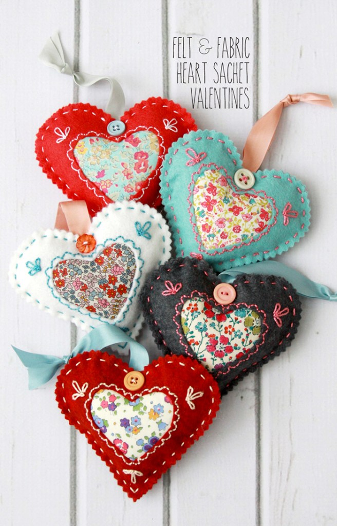 Felt heart tutorial