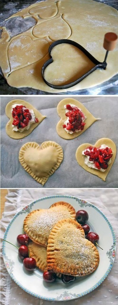 heart shaped pies