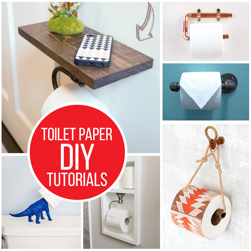 DIY toilet paper holder tutorials