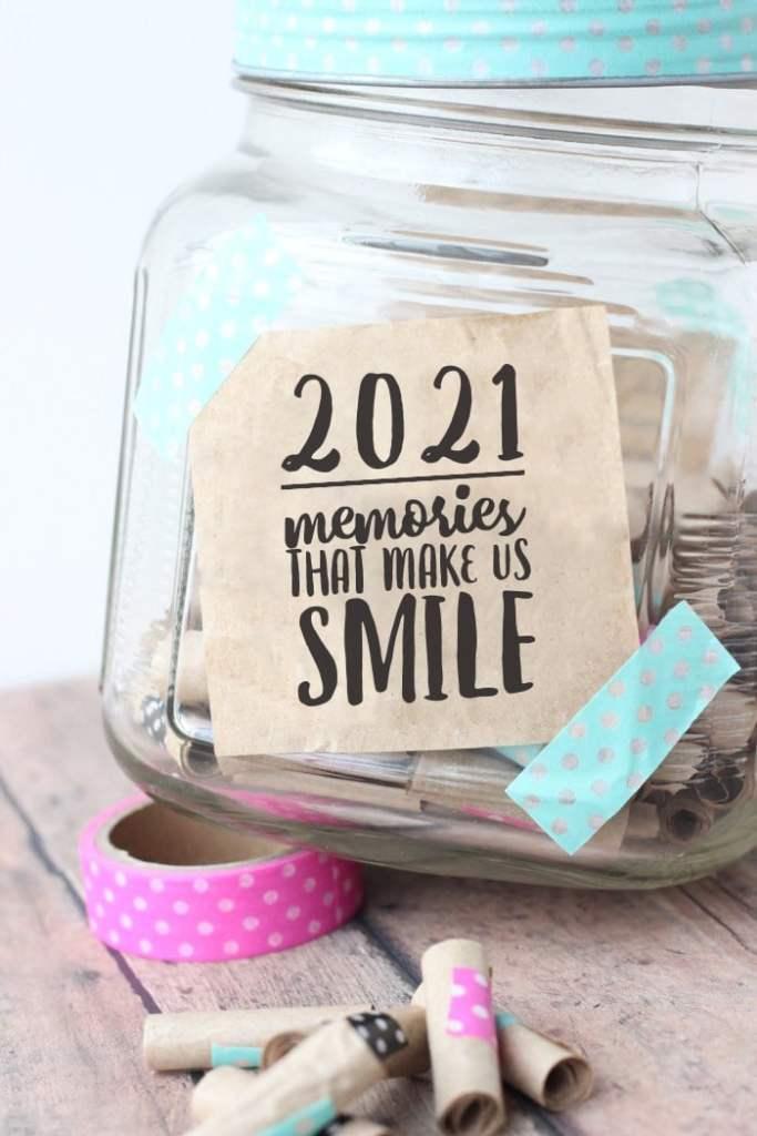 2021 memory jar washi tape pink blue