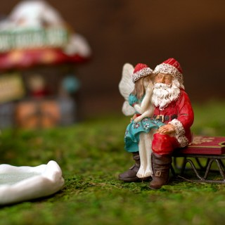 Make an adorable indoor Christmas village fairy garden