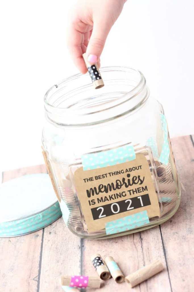memory jar 2021 hand drop washi tape kraft paper