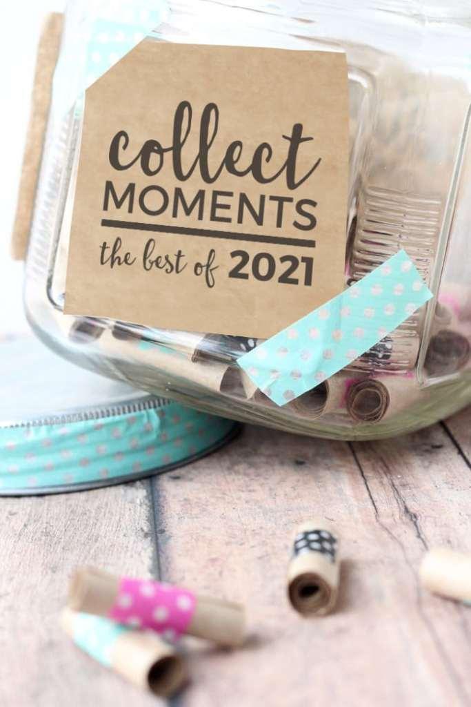 memory jar 2021 washi tape kraft paper