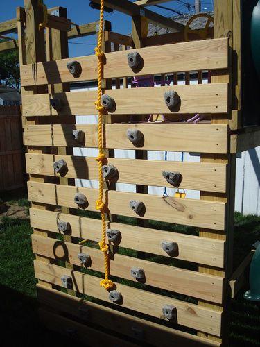 build a rock climbing wall