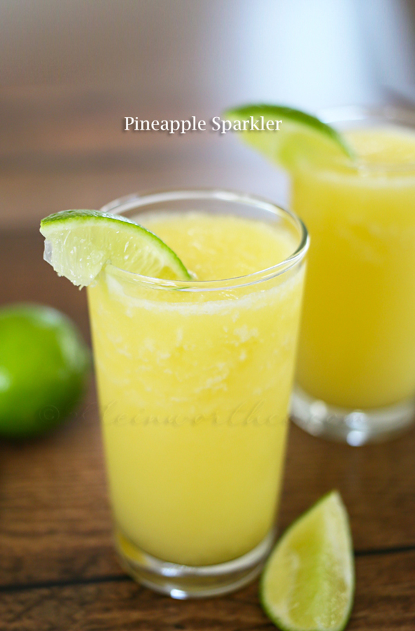 Pineapple Sparkler - summer drink recipes - andreasnotebook.com