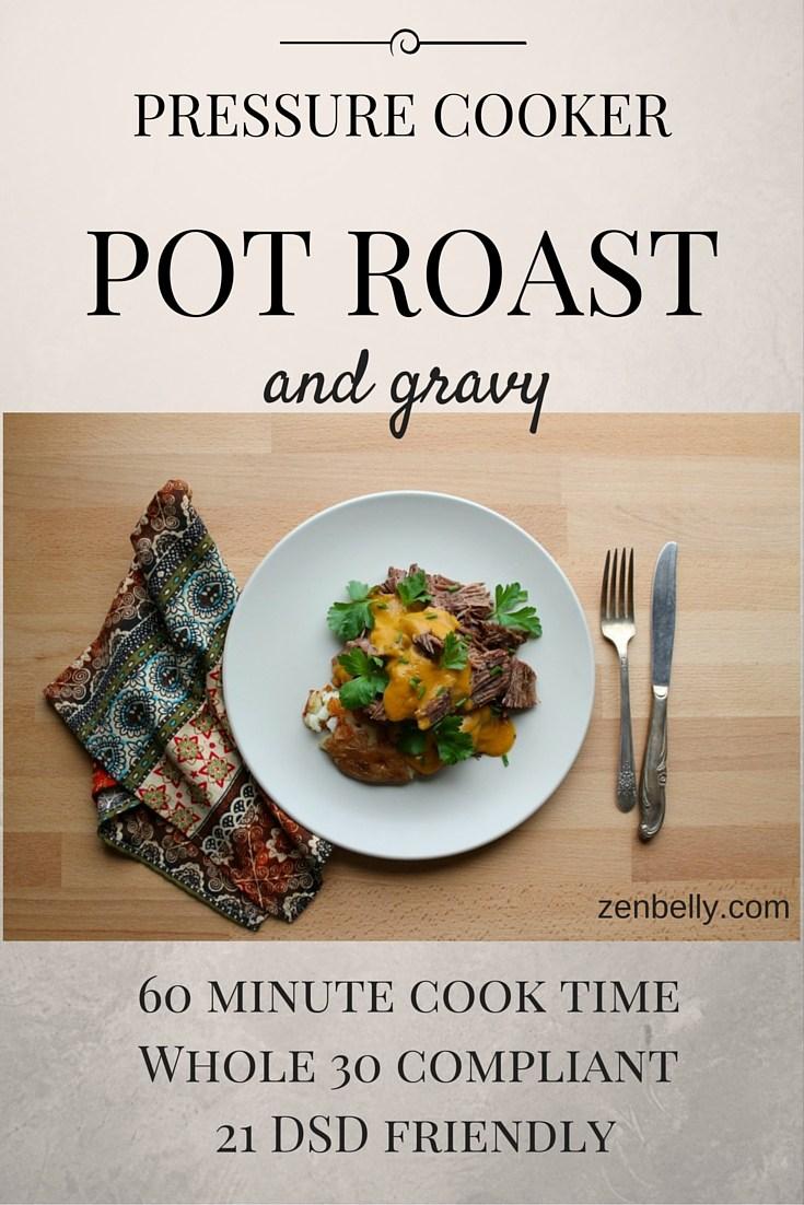 pressure cooker pot roast - paleo - instant pot