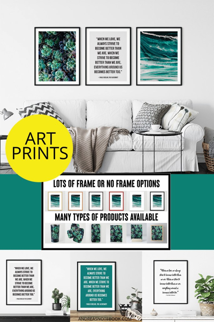 wall art prints frame