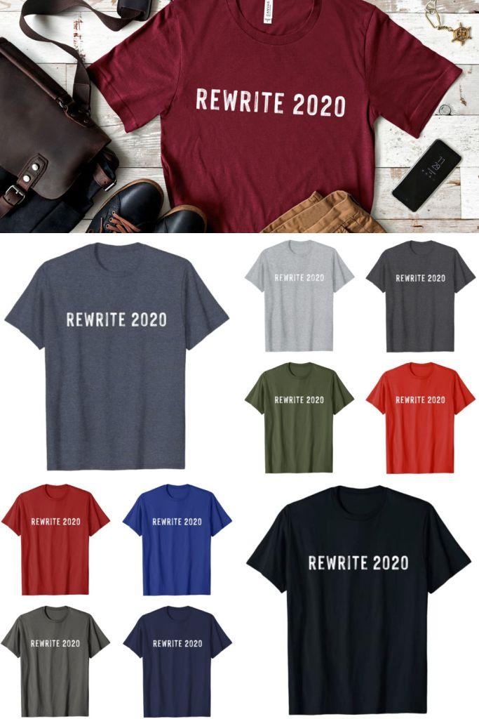 rewrite 2020 funny t-shirt
