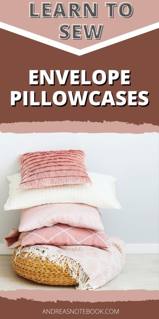 Learn To Sew An Envelope Pillowcase- stack of pink pillows