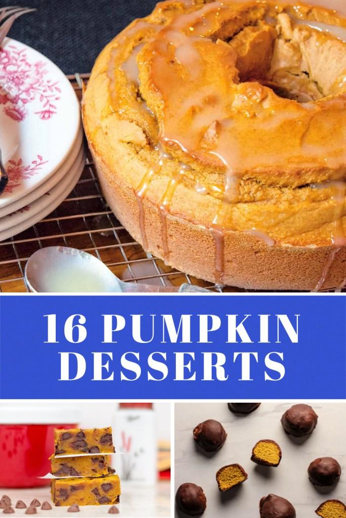16 Pumpkin Dessert Recipes bundt cake truffles cookies