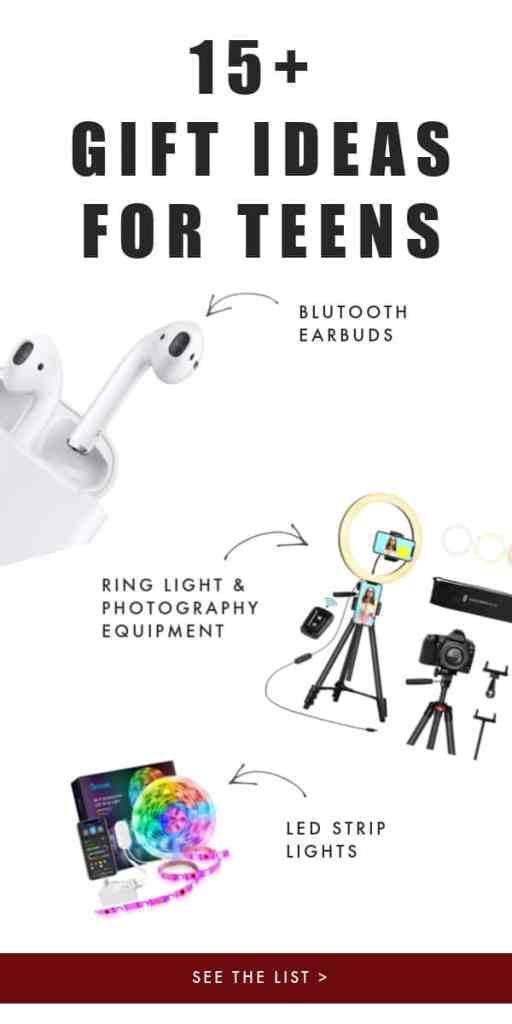 gift ideas for teens airpods ring light led strip lights
