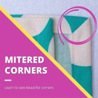 How to Sew a Mitered Corner: 3 Video Tutorials