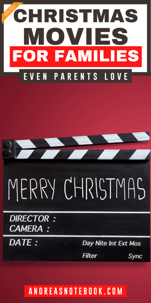 """movie clapper says """"merry christmas"""" - text says 18 of the best family christmas movies even parents enjoy"""