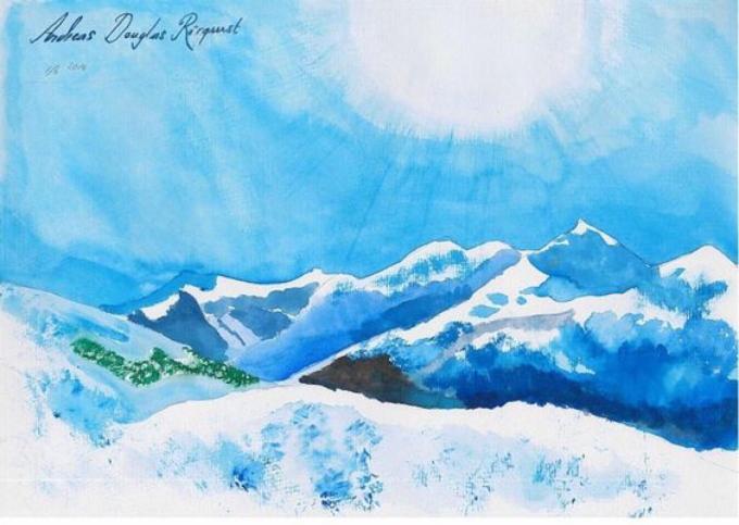switzerland, Alps, Mountains,Andreas Rörqvist,Konst,Akrylfärg,Art