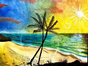 andreasrorqvist.org Andreas Rörqvist Konst Art Akrylmålning Kuba Karibien
