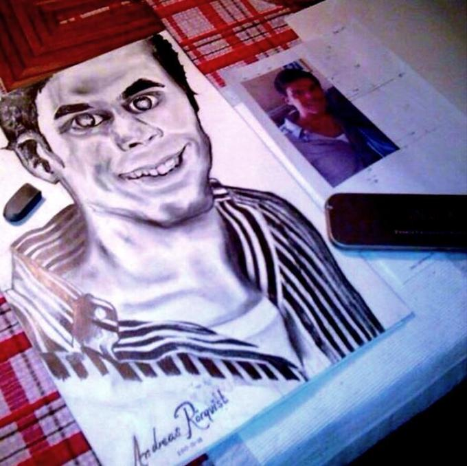 AndreasRorqvist.org Art Konst Porträtt Teckning Svartvit