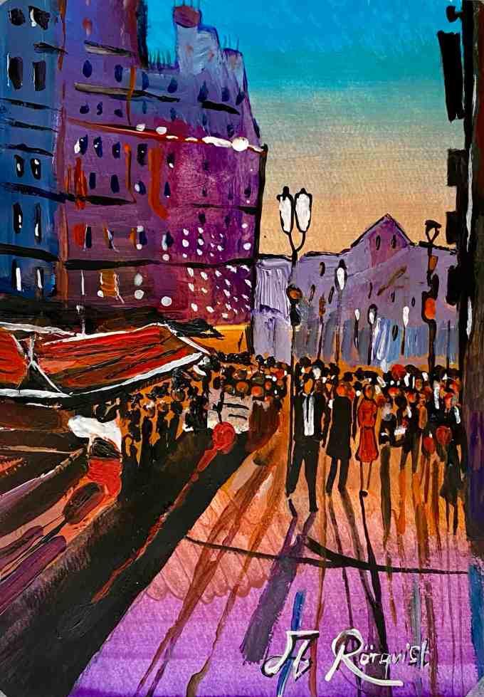 Paris, Frankrike, Andreas Rörqvist, Konst, Akrylfärg