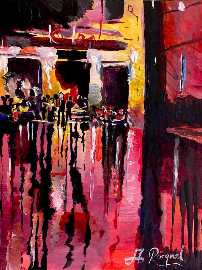 Frankrike, Paris, Andreas Rörqvist, Konst, Akrylfärg