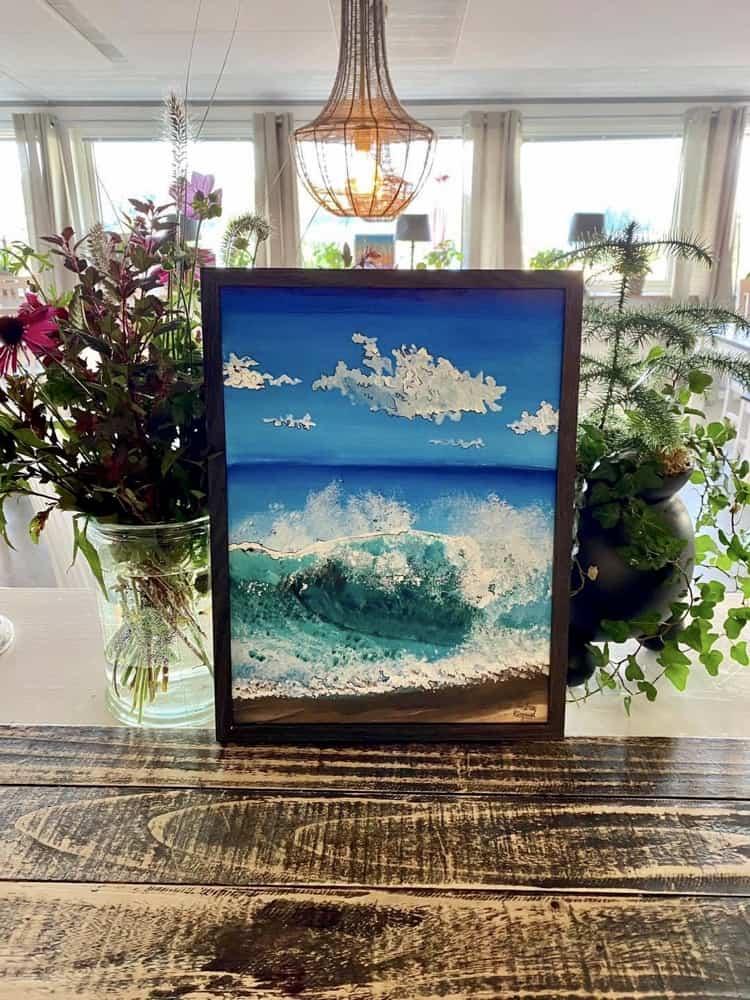 Konstnär Andreas Rörqvist Newport Beach Kalifornien Tavla Akrylmålnning