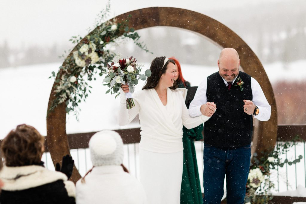 Sara and Kevin Breckenridge Golf Club Winter Wedding Photography