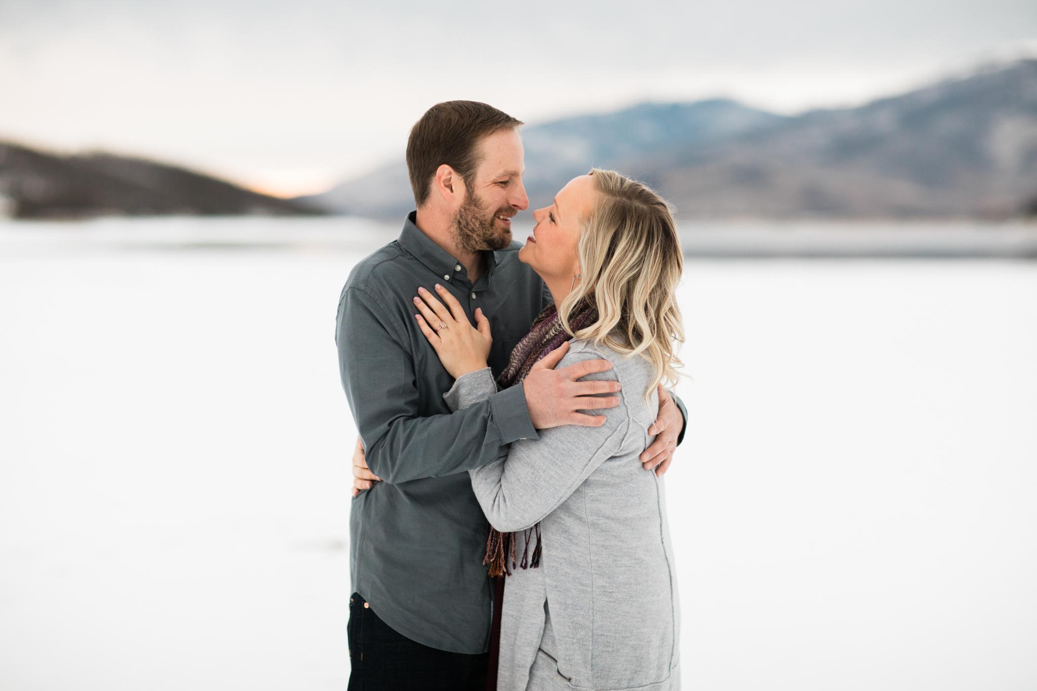 Lake Dillon Colorado Winter Engagement Session 25