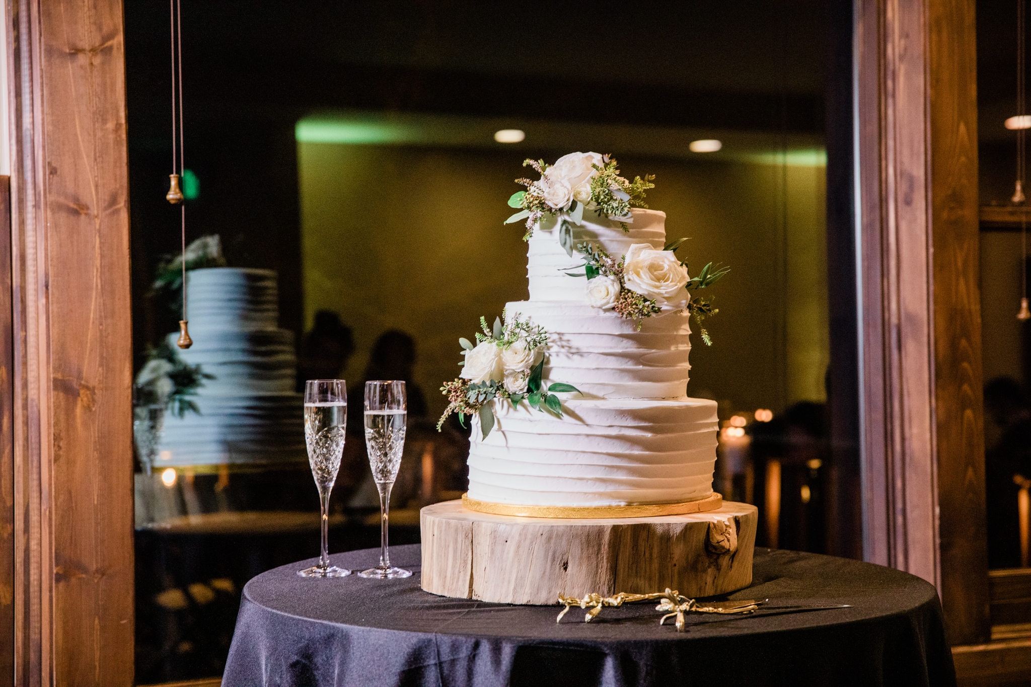 Lodge at Breckenridge Winter Wedding Cake