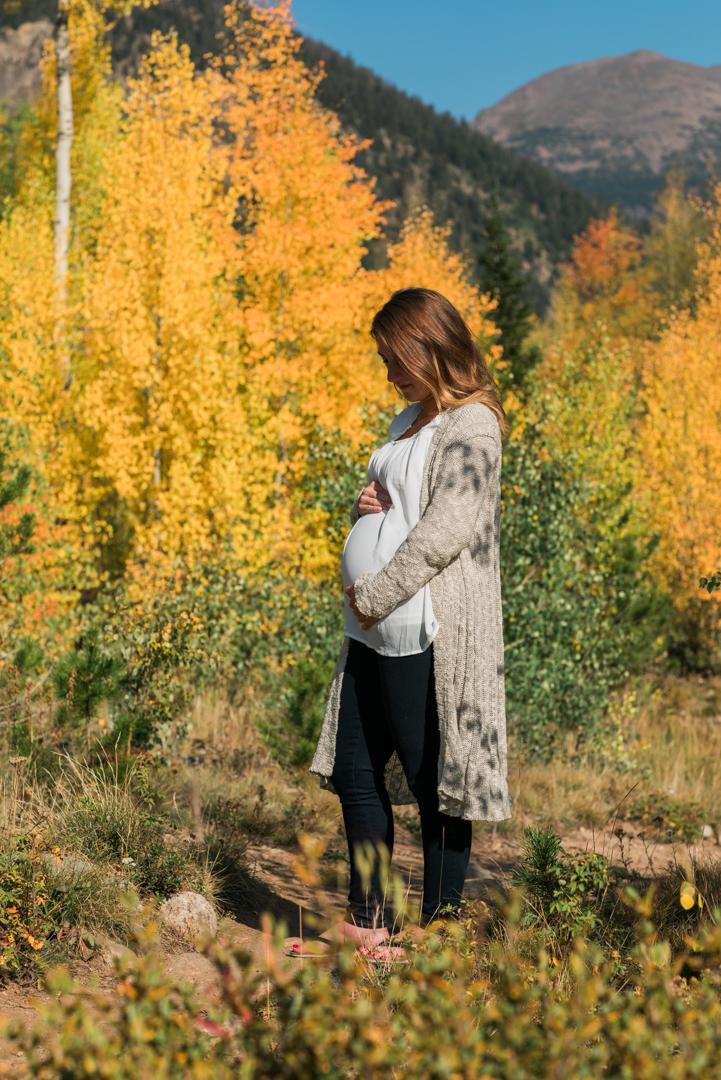 Megan Maternity Photography Frisco Colorado