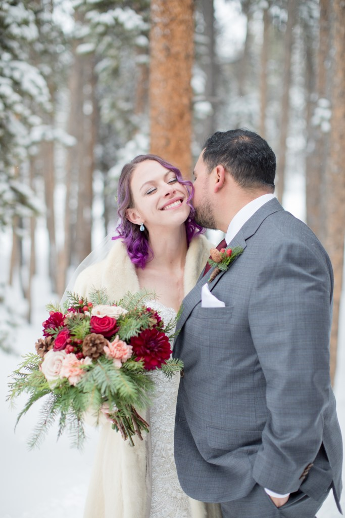 winter wedding portraits lodge at breckenridge