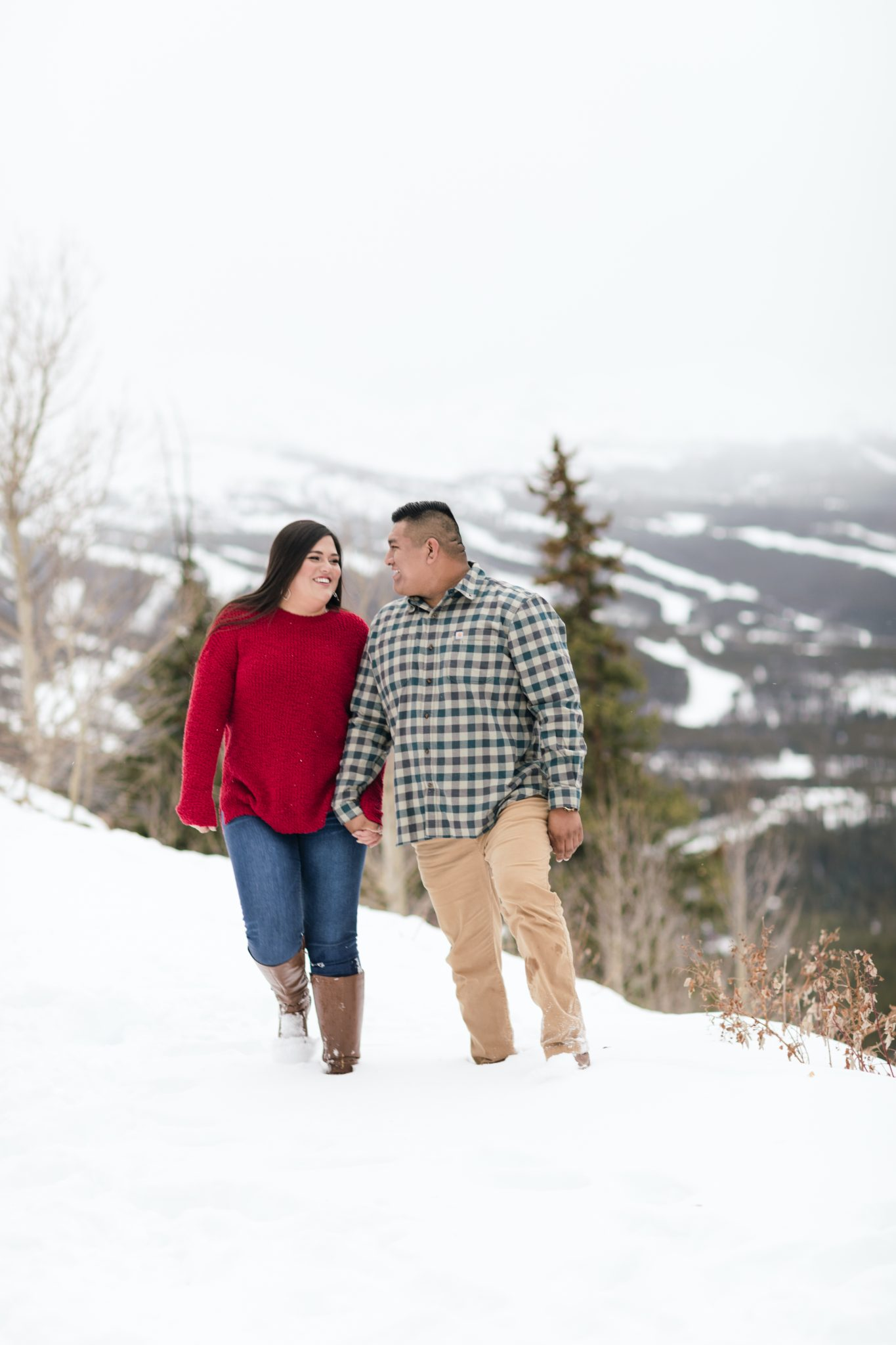 Mercedes and David Engagement Breckenridge Boreas Pass