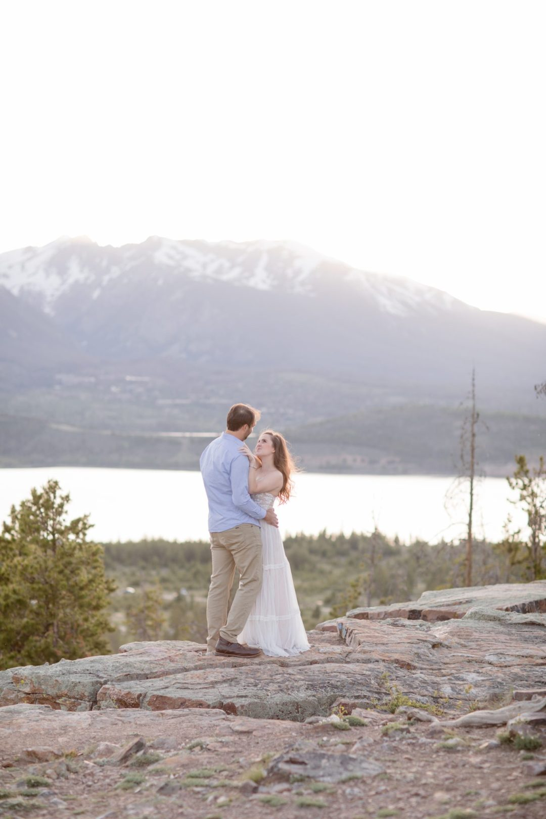 Buffalo Mountain in the backdrop of this proposal in Breckenridge