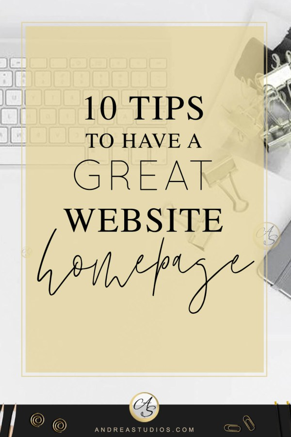 10 Tips to have a great website Homepage