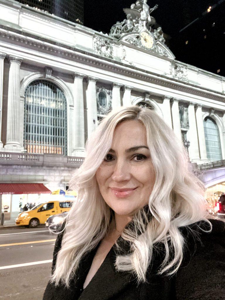 Andrea Comuzzi in Grand Central Terminal in New York