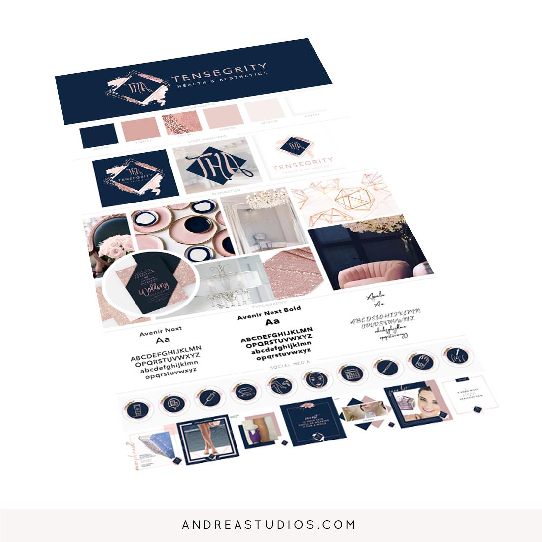 Tensegrity Health & Aesthetics Brand Design, Social Media, Web Design and Online Marketing