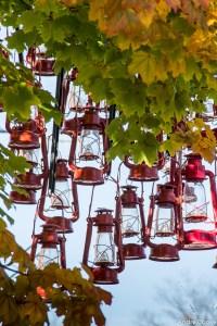 Lanterne en ville
