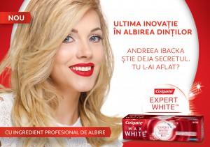 Key Visual - Andreea Ibacka, Colgate Expert White Romania