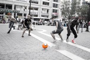 scrimmage game in Union Square