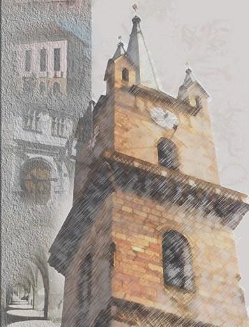 Photo of Vedere panoramica spre Bistrita din Turnul Bisericii Evanghelice