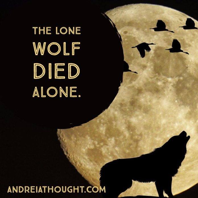 the lone wolf died alone