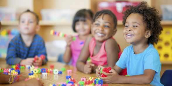 happy kids having happy fun times