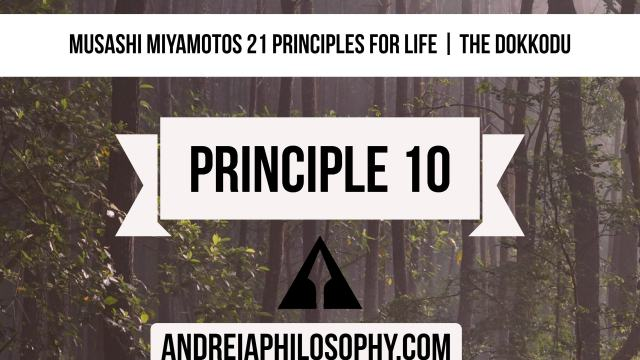 musashi principle 10