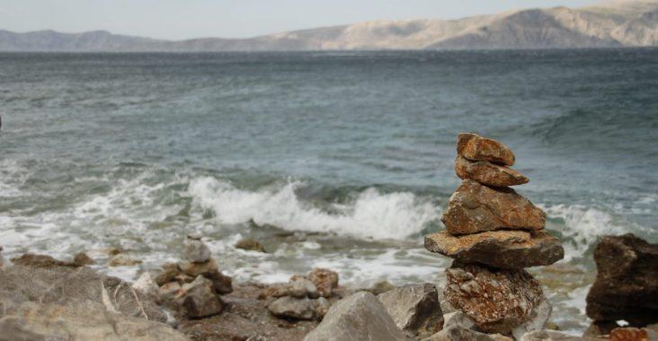Paesaggio di mare in Croazia