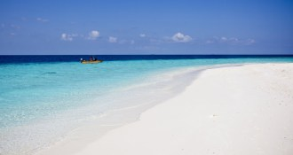 empty beach in Maldives