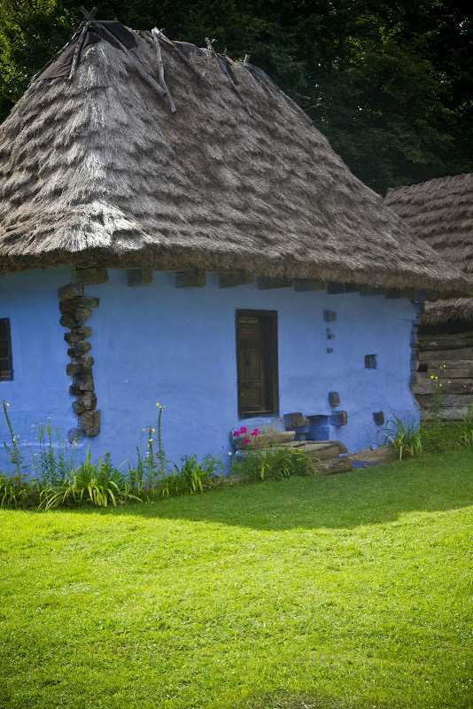 traditional house at the village museum in Sibiu