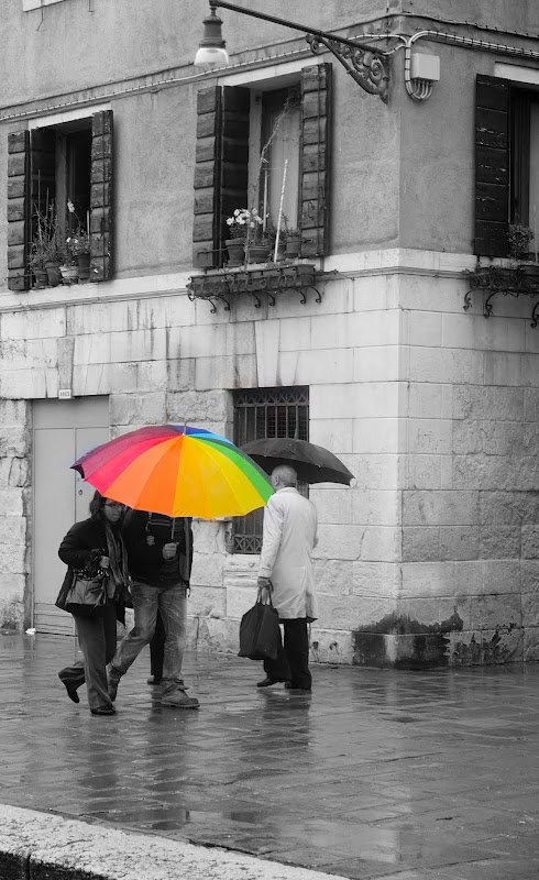 rain and photography - the umbrella treasure hunt
