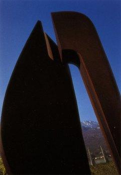 Sans titre, acier corten, 600 x 300 x 300 cm