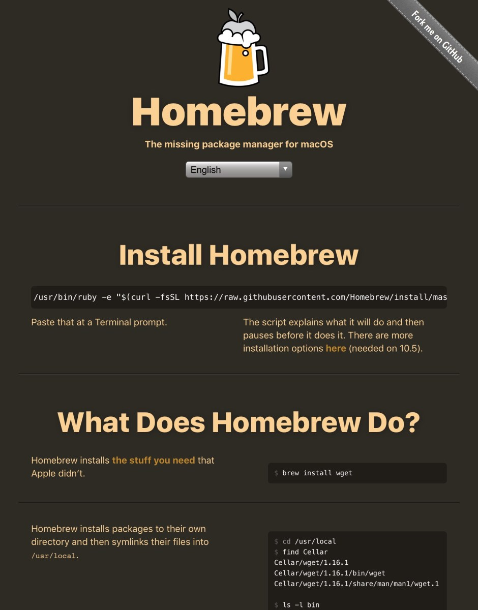 Homebrew - Package Manager for Mac