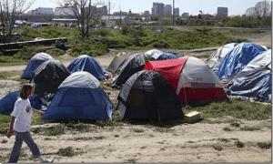 Campamento de gentes sin hogar